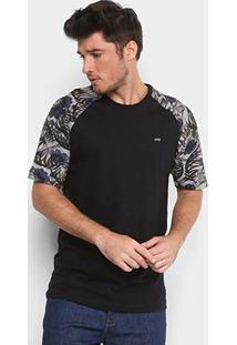 Camiseta Mcd Especial Tropical Bones Masculina - Masculino-Azul