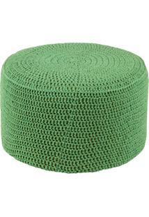 Puff Pastilha Crochê Verde Stay Puff