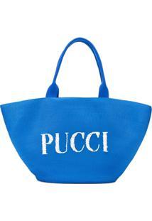 Emilio Pucci Bolsa Tote Com Logo - Azul