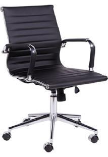 Cadeira De Escritório Diretor Eames Esteirinha I Preta
