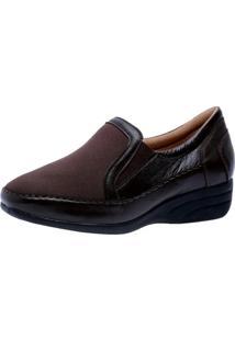 Sapato Anabela Doctor Shoes 3146 Café