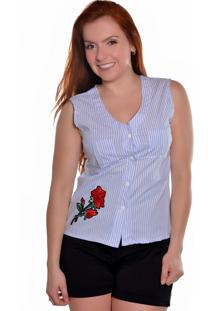 Camisa Carbella Listrada Azul