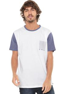 Camiseta O'Neill Rodney Branca/Azul