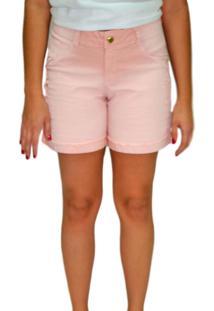Short Sarja Energia Fashion 271451 Liso Coral