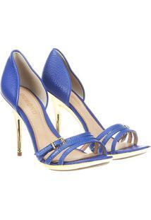 Sandália Dumond 3 Tiras Frontais - Feminino-Azul Royal