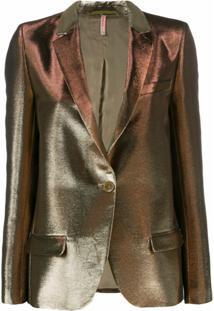 Indress Vestido Slim Metalizado - Dourado