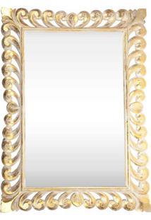 Espelho C/ Moldura Entalhada Gold 120Cm