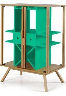Cristaleira Mystic Cor Natural Com Verde Anis - 27639 - Sun House
