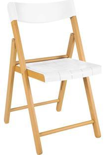 Cadeira De Madeira Dobrável Tramontina 13791/080 Potenza Branca