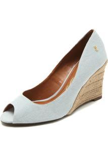 eb348a63c Peep Toe Azul Santa Lolla feminino
