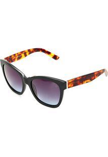 Óculos De Sol Forum Degradê F0006 Masculino - Masculino-Preto+Azul