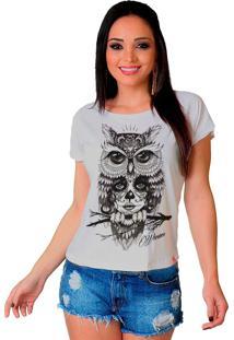 Camiseta Wevans Coruja Catrina Branco