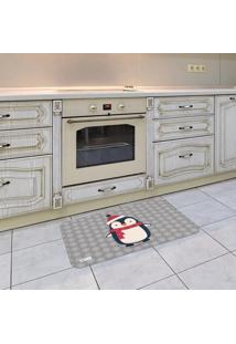 Tapete De Cozinha Mdecore Natal Cinza 40X60Cm