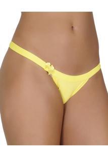Calcinha Click Chique String Sem Regulagem Amarelo