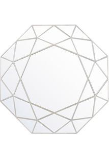 Espelho De Parede Octogonal Urban 55X55Cm Prata Gold