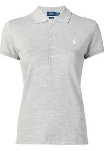 bc65855fa610f Polo Ralph Lauren Camisa Polo Mangas Curtas - Cinza