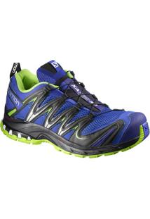 Tênis Salomon Masculino Xa Pro 3D Azul/Verde 38