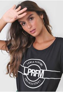 Camiseta Lança Perfume Amarração Preta - Kanui