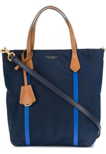 Tory Burch Contrast Top Handle Tote - Azul