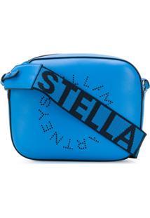 Stella Mccartney Bolsa Transversal Stella Com Logo - Azul