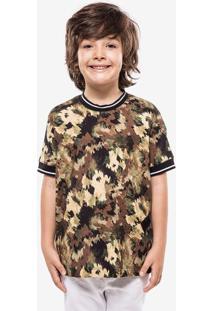 Camiseta Niños Camo Gola Listrada 500033