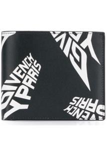 Givenchy Carteira Dobrável Com Estampa De Logo - Preto