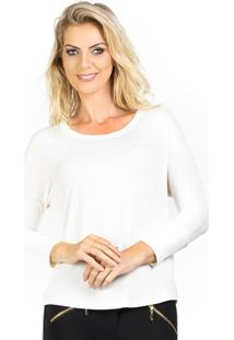 Blusa Lado Basic Ampla Branco