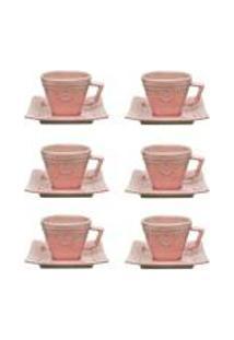 Conjunto De 6 Xicaras Pequenas 65Ml C/Pires Provence Vintage