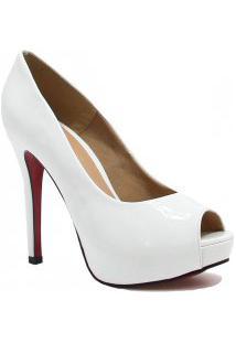 Sapato Zariff Shoes Peep Toe Noivas Salto Fino