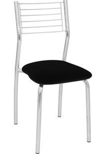 Cadeira De Cozinha Berlin Cromada E Preta