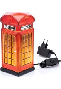 Luminária De Mesa L3 Store - Cabine Telefônica Vermelha