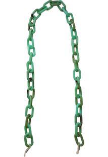 Corrente Bag Dreams Para Óculos Em Elos Quadrados Verde Mescla