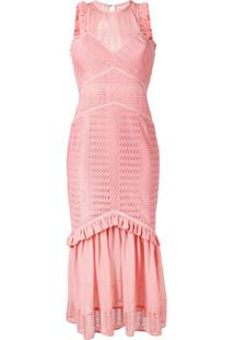 Three Floor Vestido Slim Sheer Reveal - Rosa