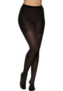 Meia Calça Kendall Suave Compressão Feminina - Feminino-Preto