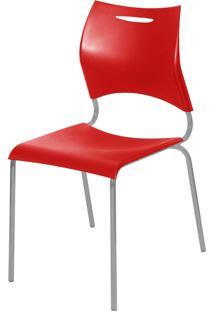 Cadeira Plã¡Stica New Vermelho Giobel - Vermelho - Dafiti
