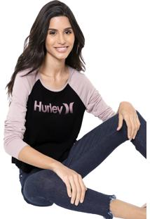 Blusa Hurley One&Only Preta/Rosa