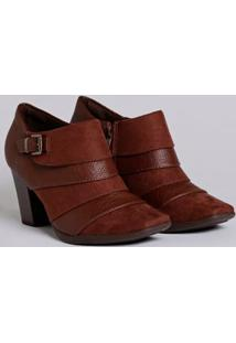 Bota Ankle Boot Feminina Piccadilly Marrom