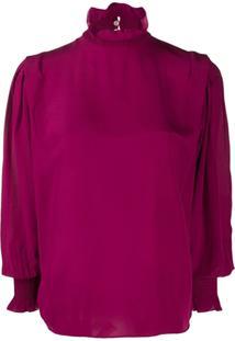 Isabel Marant Étoile High Neck Blouse - Rosa