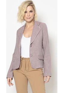 Blazer Com Recortes- Lilã¡S- Cotton Colors Extracotton Colors Extra