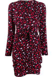 Liu Jo Vestido Assimétrico Com Estampa De Coração - Preto