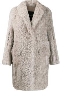 Blancha Casaco Com Textura - Cinza
