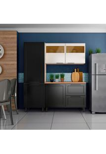 Cozinha Compacta Black&White 5 Pt 2 Gv Preta E Branca