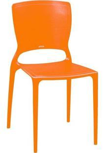 Cadeira Tramontina Sofia Encosto Fechado Laranja
