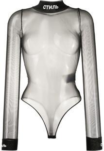 Heron Preston Body Translúcido Style - Preto