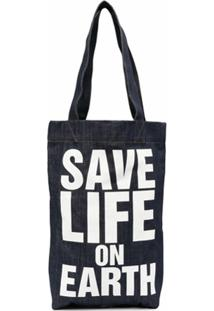 Katharine Hamnett London Bolsa Tote Save Life On Earth - Azul