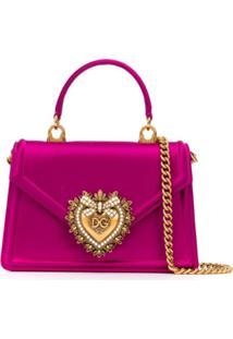 Dolce & Gabbana Bolsa Transversal Com Placa De Logo - Rosa