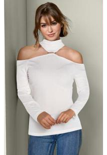Blusa Ombros Vazados Branco