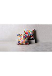 Capa De Almofada Pixel Cor: Multicolorido - Tamanho: Único