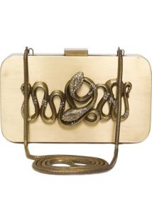 Clutch Snake Metal Box - Dourado