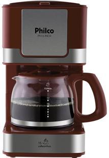 Cafeteira Elétrica Inox Vermelho Philco 127V Ph16